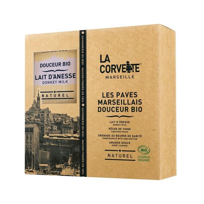 Coffret les paves marseillais Bio - La Corvette - Savonnerie du Midi - PRODEF