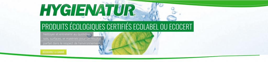 Hygienatur produits ecologiques Ecolabel Ecocert - Groupe PRODEF
