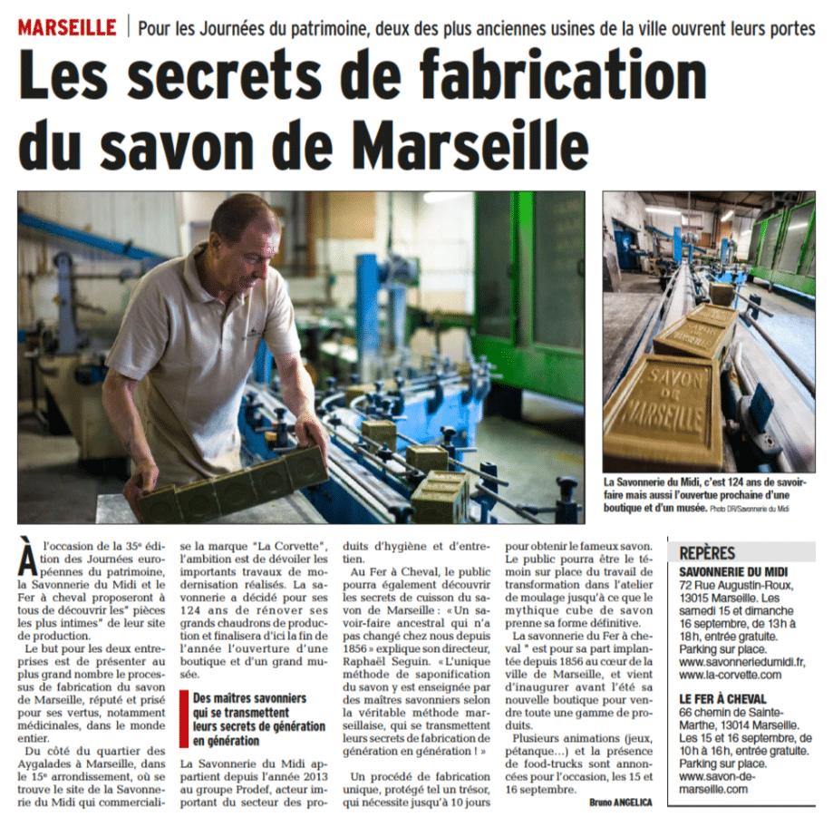 Les secrets de fabrication du savon de Marseille